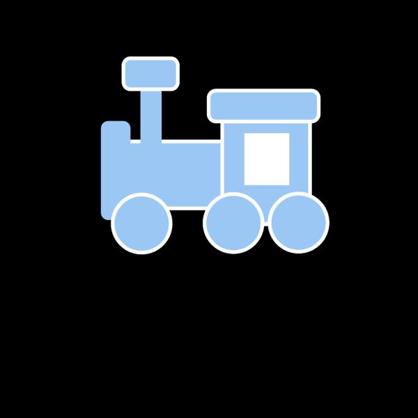 Train Blue PNG Clip art