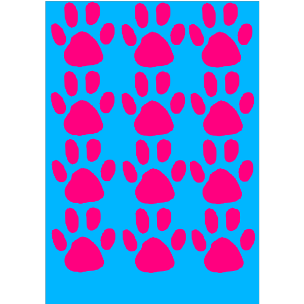 Paw Print Blue 2 PNG Clip art