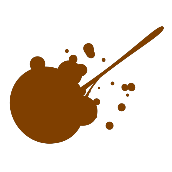 Brown Splatter PNG Clip art