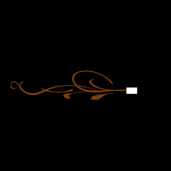 Swirl Brown Bottom PNG Clip art