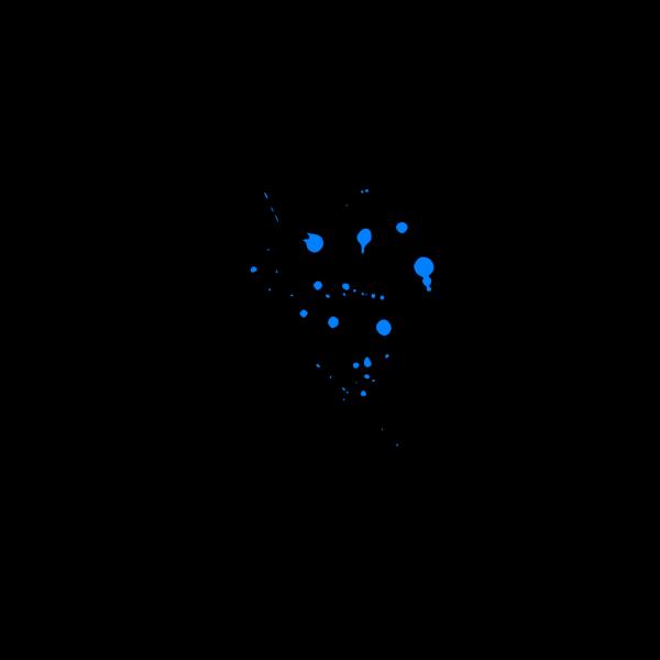 Blue Paint Splat PNG Clip art