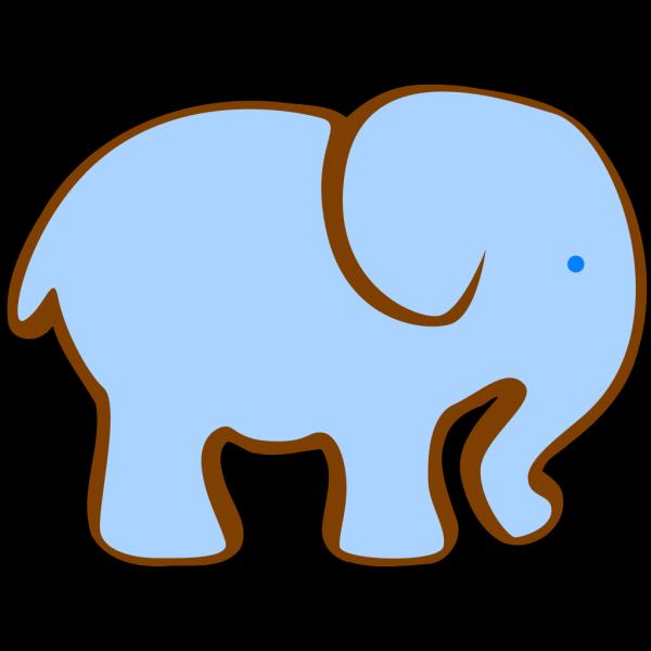 Large Blue Elephant PNG Clip art