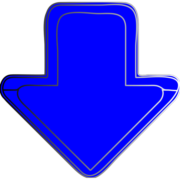 Blue-arrow-down PNG Clip art