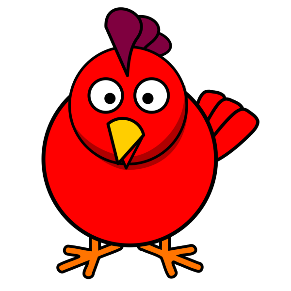 Red Chick PNG Clip art