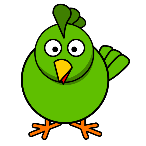 Green Chick PNG Clip art