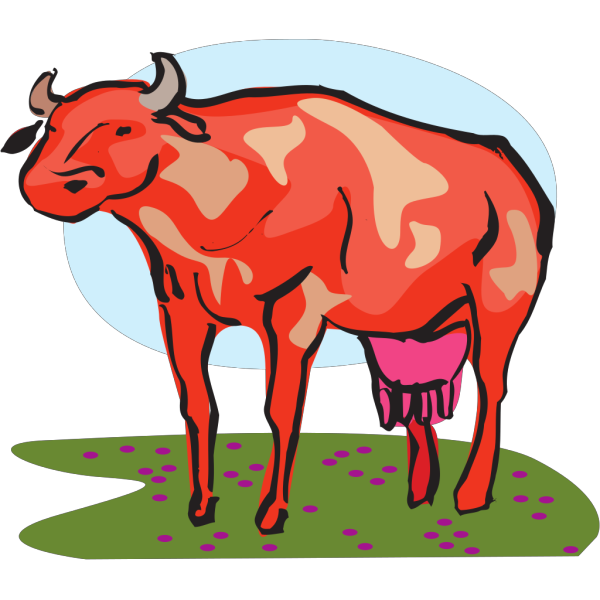 Red Cow PNG Clip art