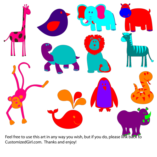 Bold Animals PNG Clip art