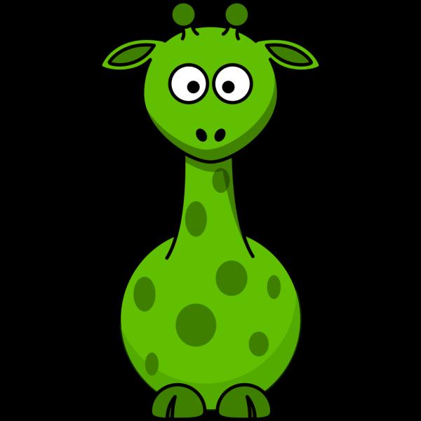 Green Giraffe PNG Clip art