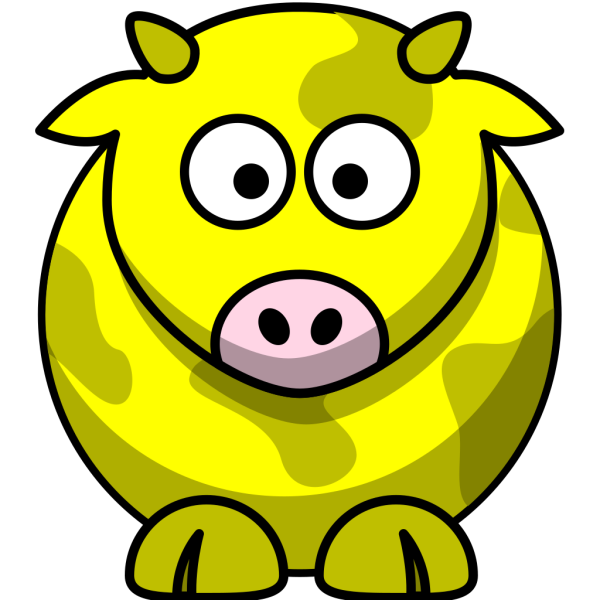 Yellow Cow 2 PNG Clip art