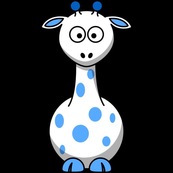 Blue Giraffe 2 PNG Clip art