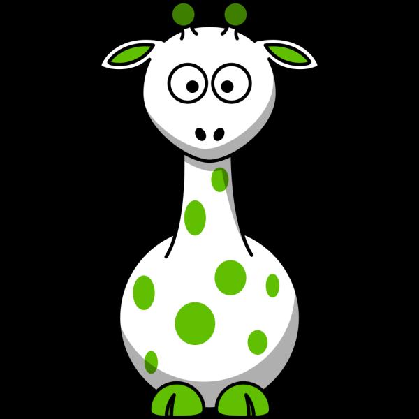 Green Giraffe 2 PNG Clip art