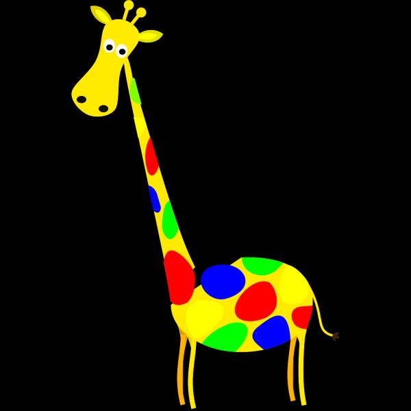 Yellow Giraffe 2 PNG Clip art