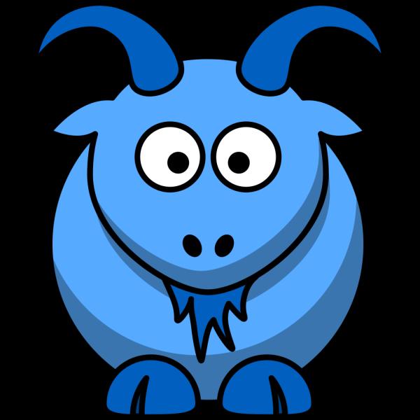 Blue Goat PNG Clip art