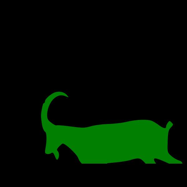 Green Goat PNG Clip art