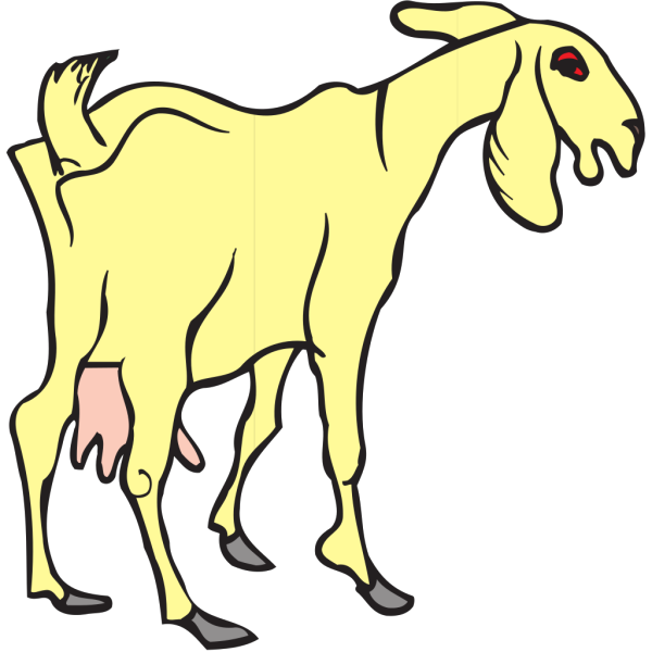 Yellow Goat PNG Clip art