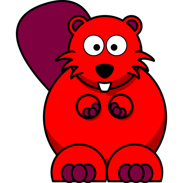 Red Beaver PNG Clip art