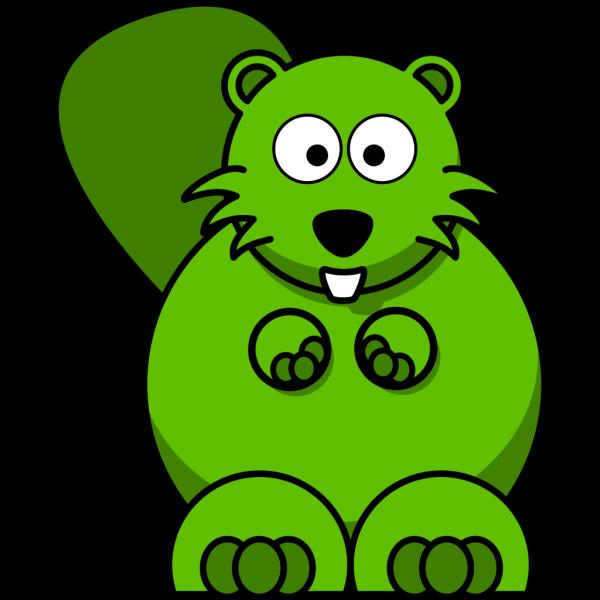 Green Beaver PNG Clip art