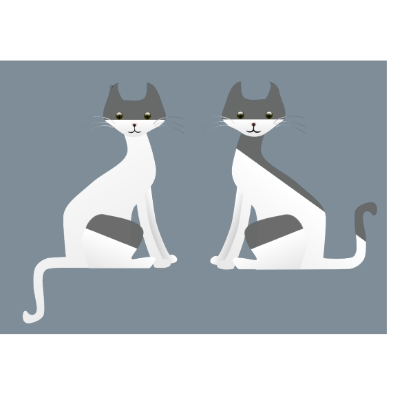 Two Cartoon Siamese Cats PNG Clip art