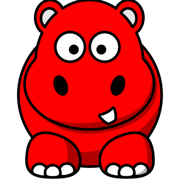 Red Hippo PNG Clip art