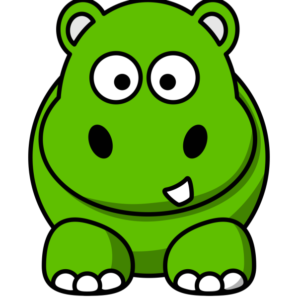 Green Hippo PNG Clip art
