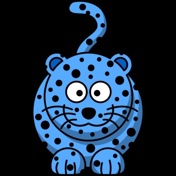 Blue Leopard PNG Clip art
