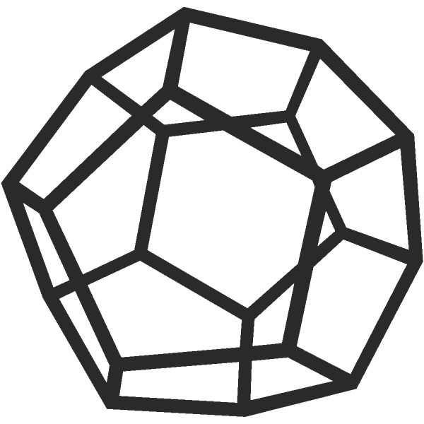 Dodecahedron PNG Clip art