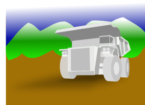 Black Dump Truck PNG Clip art