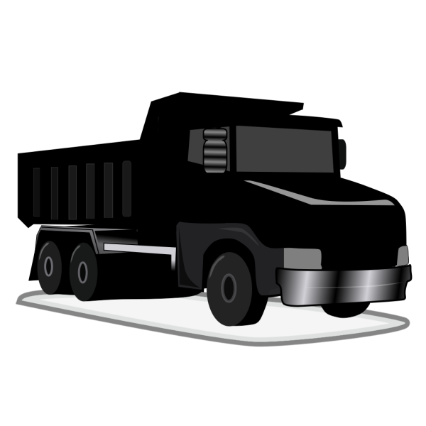 Black Gray Dump Truck PNG icons