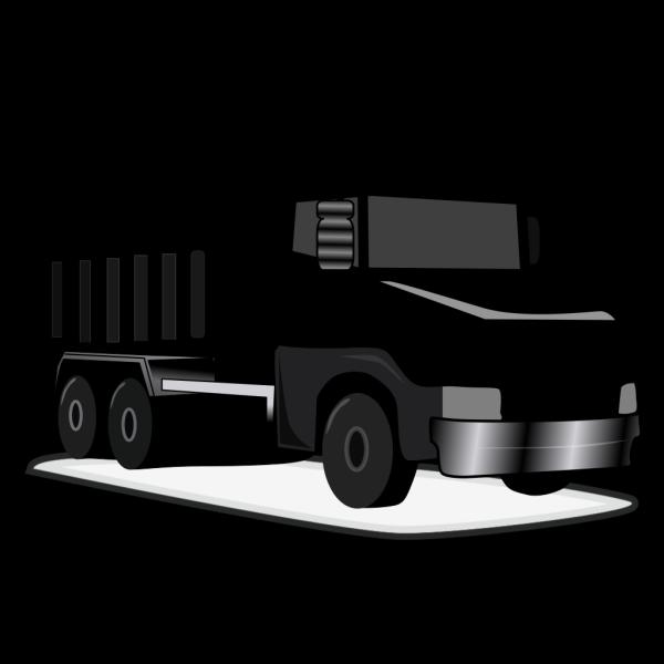 Black Gray Dump Truck PNG Clip art