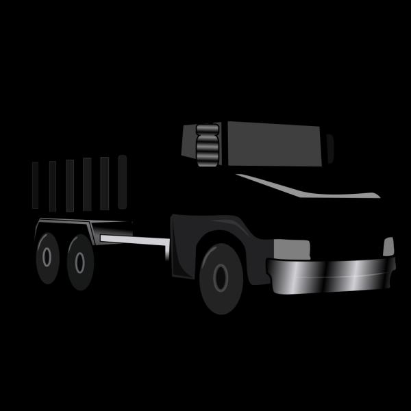 Black Gray Dump Truck 2 PNG Clip art