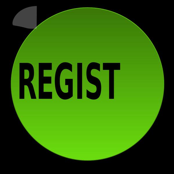 Green Register Button Bold PNG Clip art