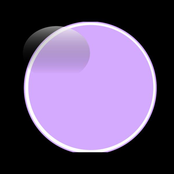 Glossy Purple Light Button PNG Clip art