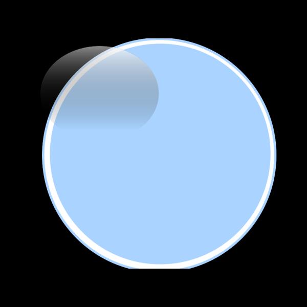Glossy Blue Light Button PNG Clip art