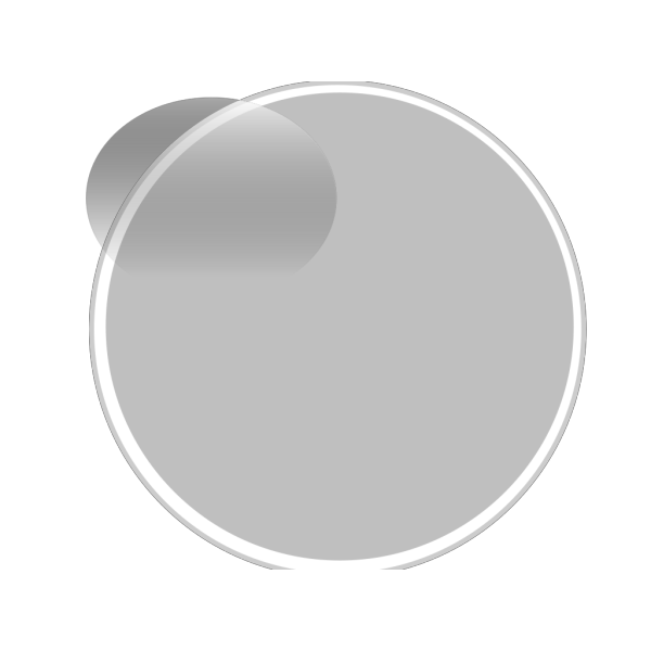 Glossy Grey Light Button PNG Clip art