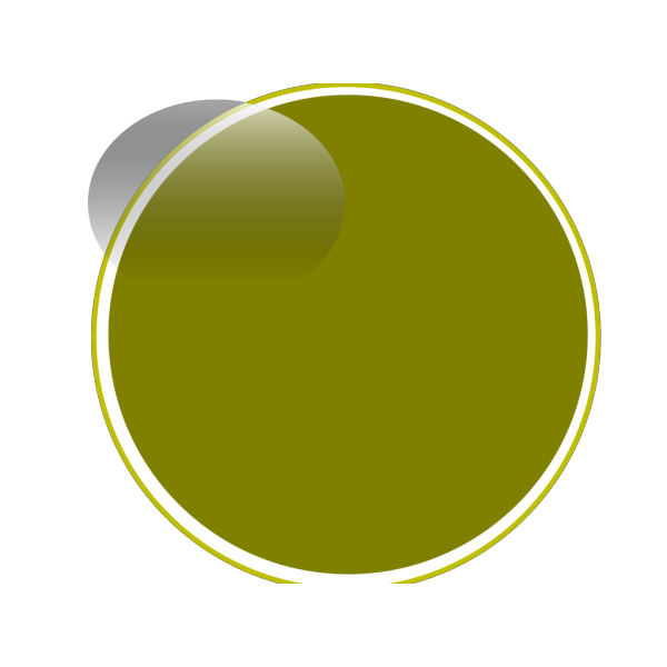 Glossy Olive Green Button PNG Clip art