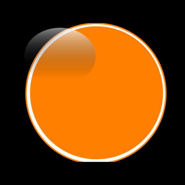 Glossy Orange Button PNG Clip art
