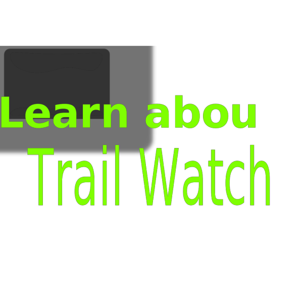 Black Trail Watch Button PNG Clip art