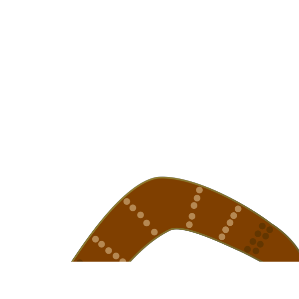 Aussie Brown Boomerang PNG images