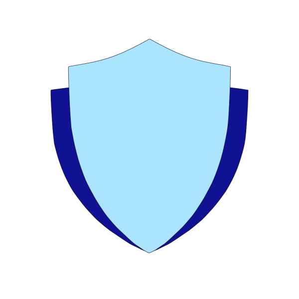 Sky Blue Shield W/flank PNG Clip art