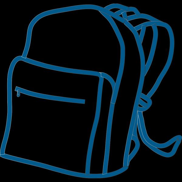 Blue Backpack PNG Clip art