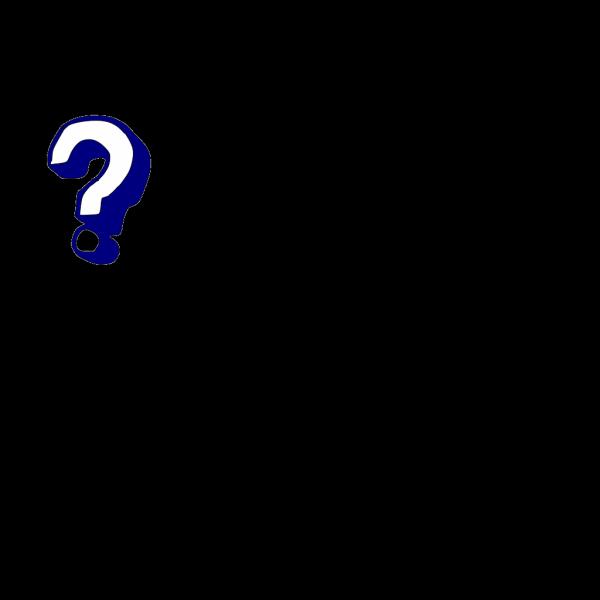 Question Mark - Blue PNG Clip art