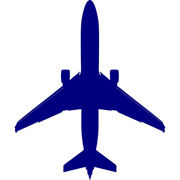 Blue Plane PNG icons