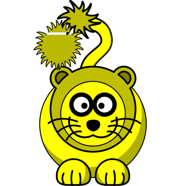 Yellow Lion PNG Clip art