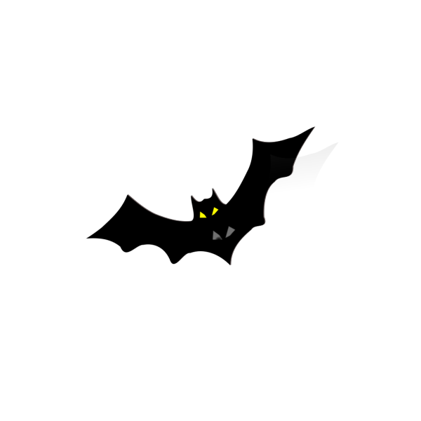 Bat With Yellow Eyes PNG Clip art