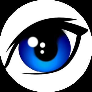 Blue Vector Eye PNG Clip art