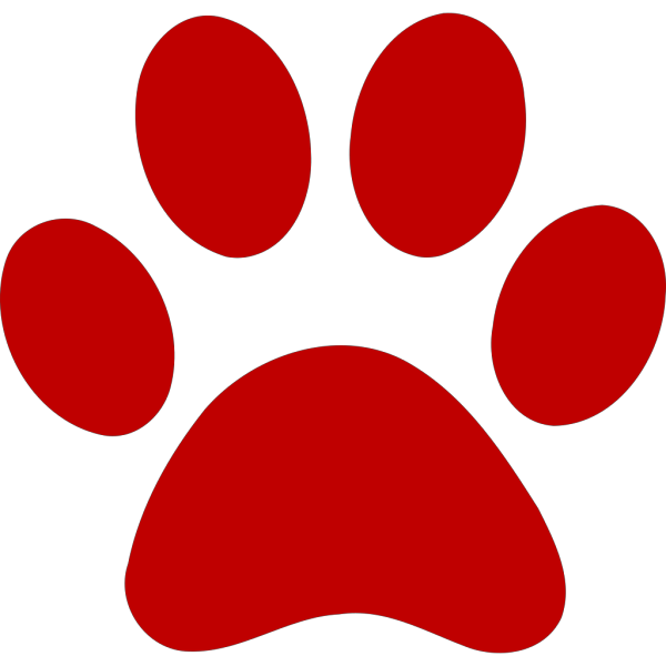 Red Paw Print Border PNG Clip art