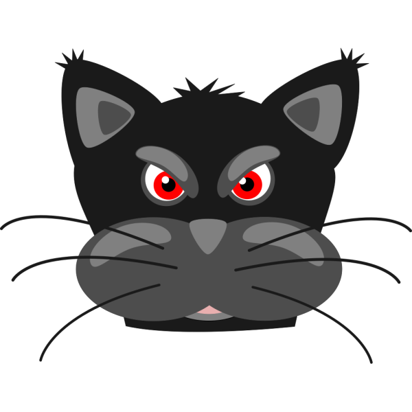 Angry Black Cat PNG Clip art
