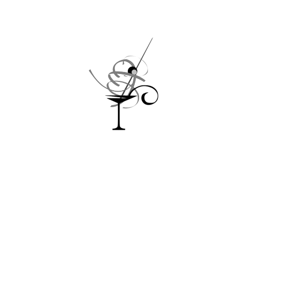 Black And White Martini Glass PNG Clip art