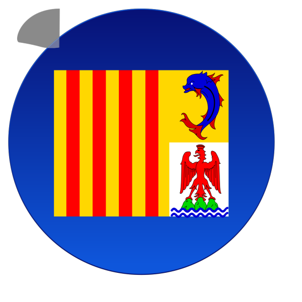Provence Flag PNG Clip art