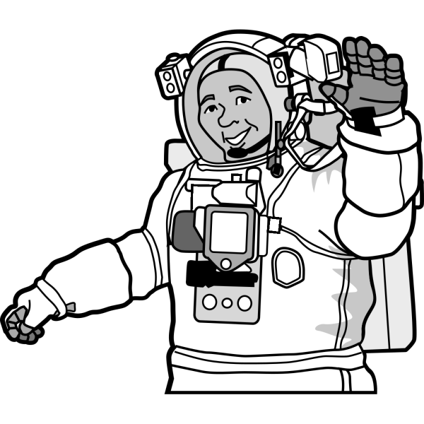 Smiling Astronaut PNG images